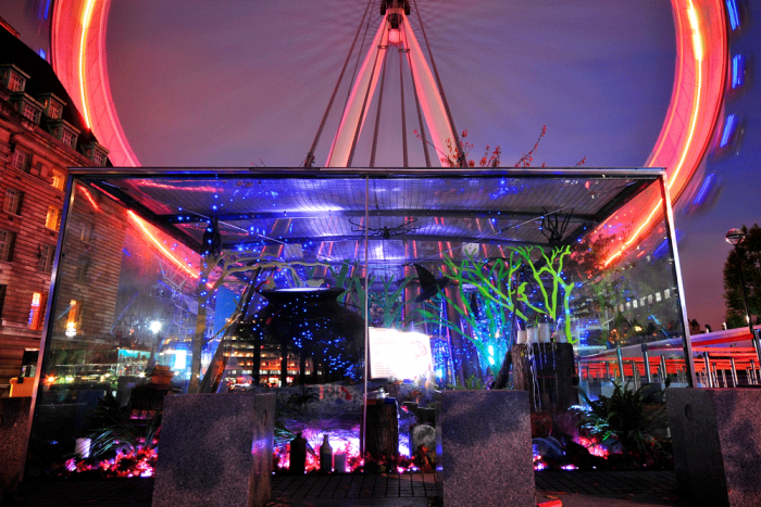 Event Planning - night time installation at the London Eye