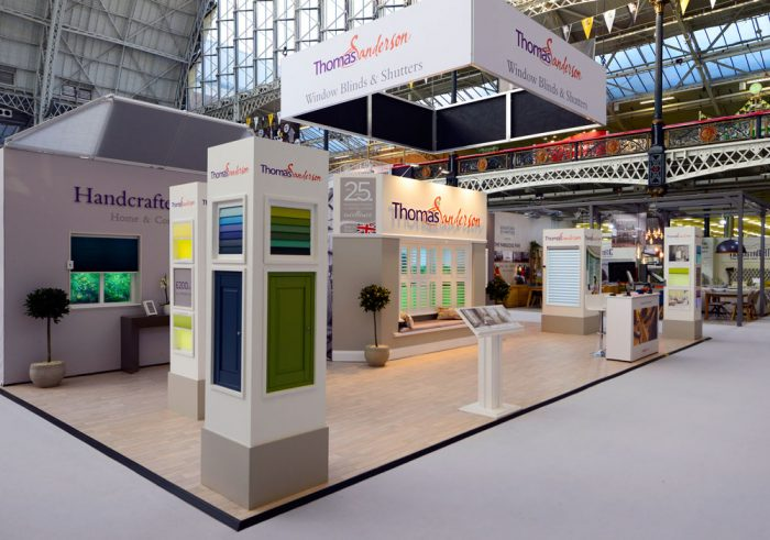 Exhibition Stand design and build for thomas sanderson
