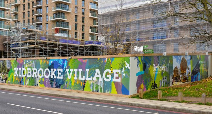 Advertising hoarding for Berkeley Homes by Octink