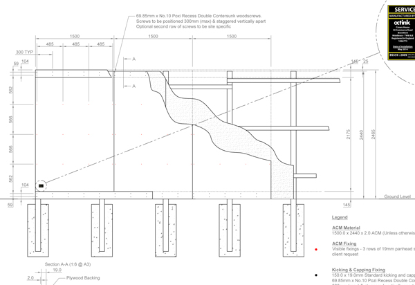 Hoarding Technical Drawing