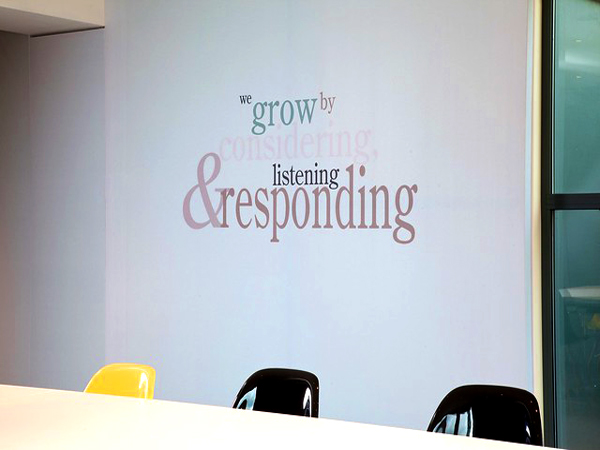 Quotes used in office design