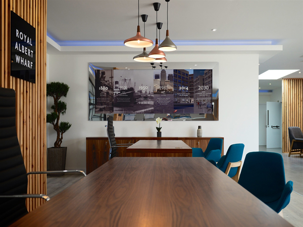 impressive office designs at royal albert wharf