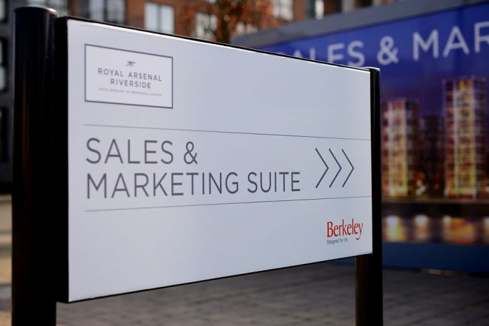 Kerb Appeal signage at a Berkeley Homes site
