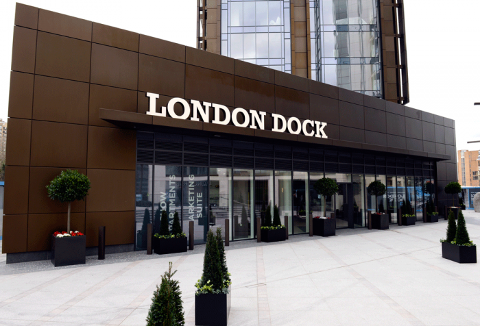 London-Dock-Grand-Entrance-has-kerb-appeal