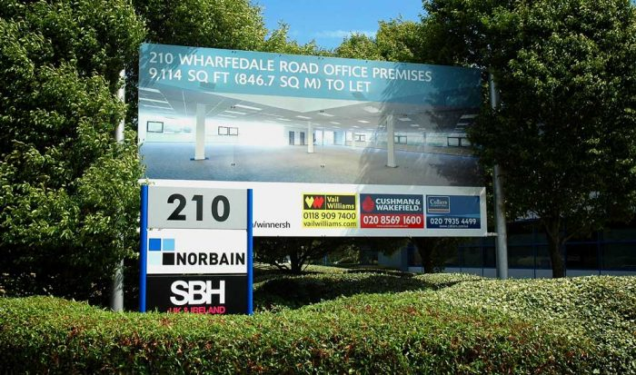 Lettings boards for commercial property