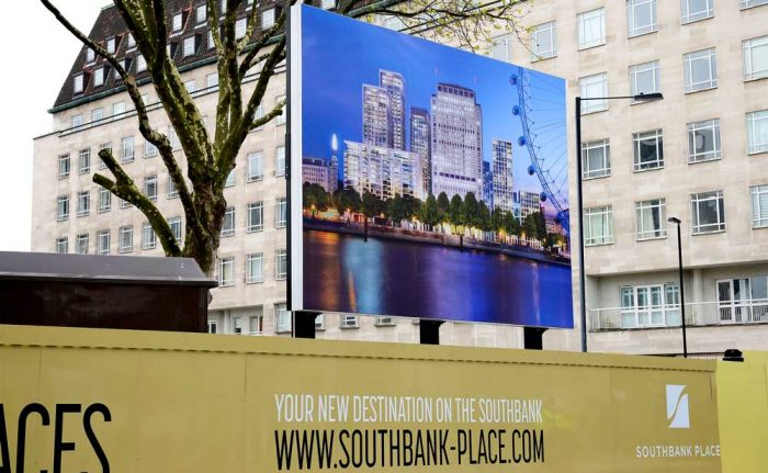 Southbank Place Advertising Board