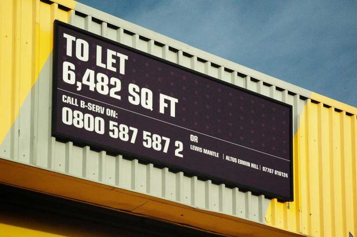 Advertising Board Letting Sign