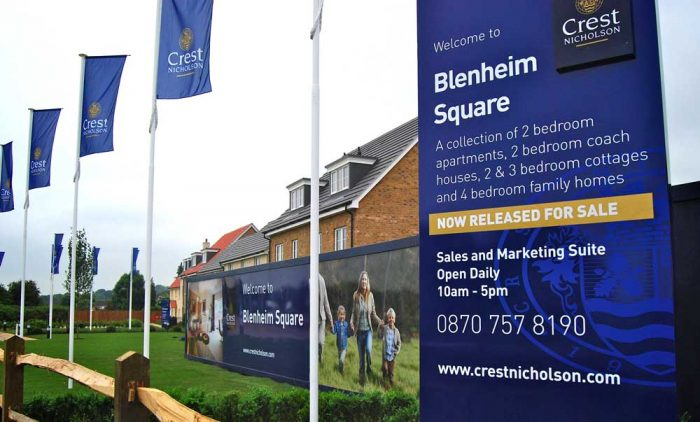 Crest Nicholson Totems Advertising Boards Flags & Hoardings