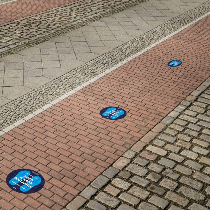Social distancing floor graphics a key part of the customer journey
