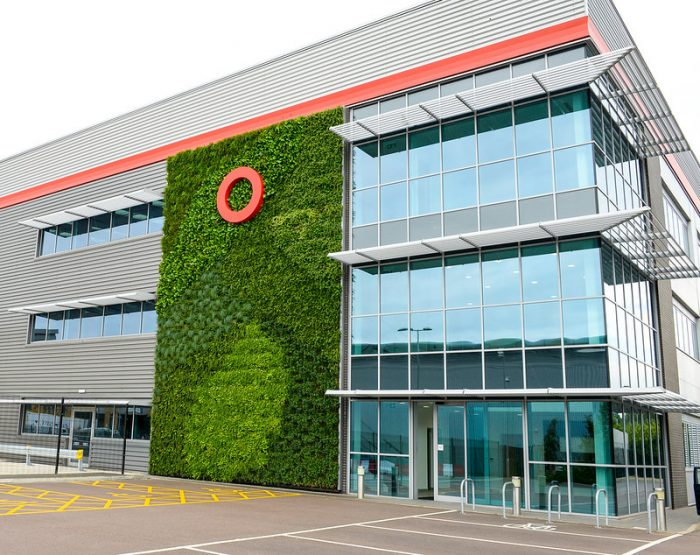 SEGRO living wall with brandmark by Octink