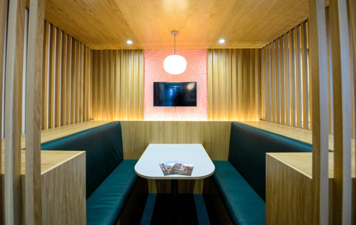 Interior of the Arden marketing suite for Peabody by Octink